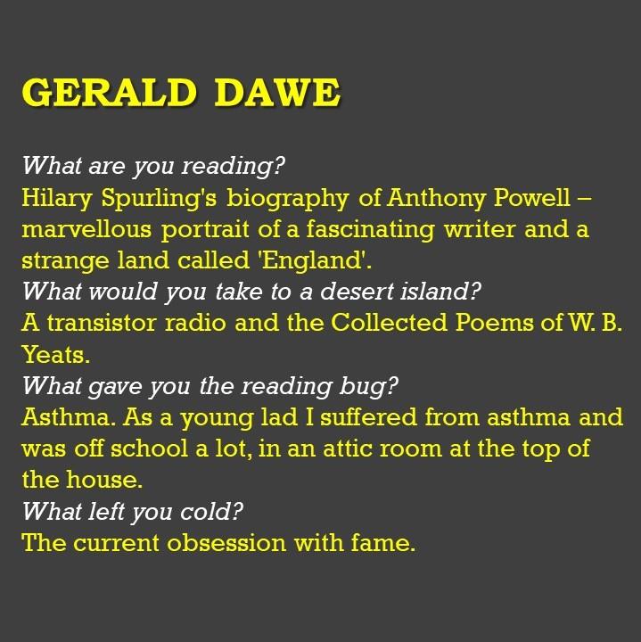 Gerald Dawe powerpoint slide
